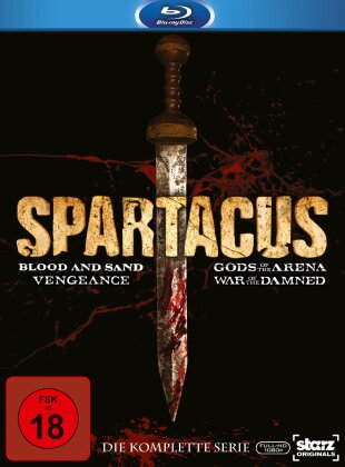Spartacus - Blood and Sand / Gods of the Arena / Vengeance / War of the Damned - Die komplette Serie (15 Blu-rays)
