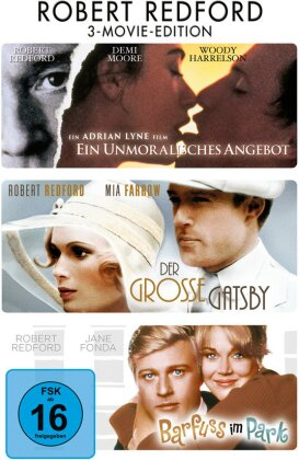 Ein unmoralisches Angebot / Der grosse Gatsby / Barfuss im Park - Robert Redford - 3-Movie-Edition (3 DVDs)