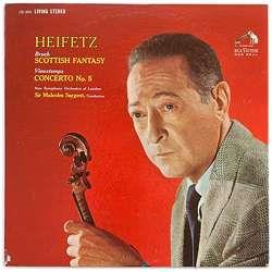 Sir Malcolm Sargent & Jascha Heifetz - Scottist Fantasy / Concerto 5 / Violin - Analogue Productions (LP)