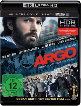 Argo (2012) (Extended Cut, Kinoversion, 4K Ultra HD + Blu-ray)