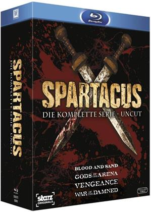 Spartacus - Blood and Sand / Gods of the Arena / Vengeance / War of the Damned - Die komplette Serie (Uncut, 15 Blu-rays)