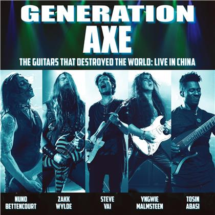 Generation Axe (Vai/Malmsteen/Wylde/Bettencourt/Abasi) - The Guitars That Destroyed The World - Live In China