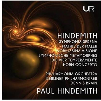Paul Hindemith (1895-1963), Dennis Brain, Philharmonia Orchestra & Berliner Philharmoniker - Symphonia Serena / Mathis Der Mahler / Horn Concerto (2 CDs)