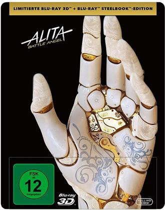 Alita: Battle Angel (2018) (Limited Edition, Steelbook, Blu-ray 3D + Blu-ray)