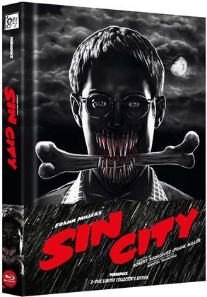 Sin City (2005) (Wattiert, Cover A, Limited Collector's Edition, Mediabook, Blu-ray + DVD)